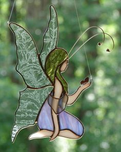 Stained Glass Fairy by theglassmenagerie on Etsy, $25.00