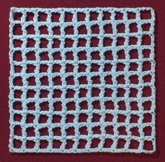 Wiggly crochet foundation mesh (part of wiggly crochet tutorial)