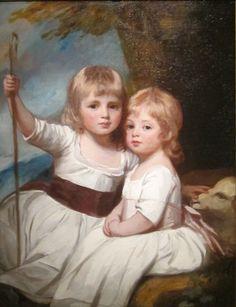 .:. Mary and Louisa Kent  by George Romney,  1783-85, Cincinnati Art Museum