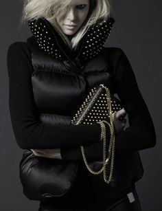 Rock Wylde – Alyona Subbotina fronts the fall 2013 campaign from Thomas Wylde, evoking a rocker chic vibe that contrasts the lightness of the spring season. Ski Fashion, Winter Fashion, Fashion Looks, Fashion Outfits, Black Biker Boots, Thomas Wylde, Winter Looks, Winter Style, Effortless Chic