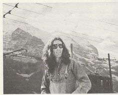 """Scanned from the book """"Dream Weaver Music, Meditation & My Friendship With George Harrison"""" by Gary Wright, is this photo of George on vacation in Grindelwald Switzerland. Years after their travels..."""