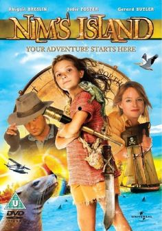 Nim's Island is a 2008 Australian adventure-fantasy film directed by Jennifer Flackett and Mark. Gerard Butler, Jodie Foster, Movies Like Jumanji, Bd Collection, Nims Island, Fictional Heroes, T Movie, Abigail Breslin, Literary Characters