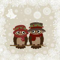 Christmas Owls, Christmas Photos, Christmas Ornaments, Eps Vector, Vector Art, Xmas Cards, Techno, Royalty Free Stock Photos, Presentation