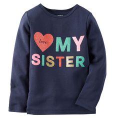 Kid Girl Sister Tee | Carters.com