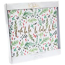 Buy Kelly Ventura Fa La La La La Christmas Cards, Pack of 8 from our Christmas Cards range at John Lewis & Partners. Christmas Time Is Here, Christmas 2017, Xmas, Merry Christmas, Holiday Cards, Christmas Cards, Christmas Decorations, Luxury Card, Christmas Illustration