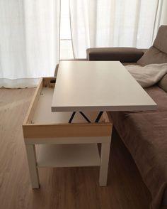 Como hacer una mesa elevable con una mesa Lack - Depart                                                                                                                                                                                 Más