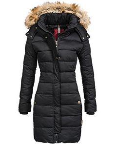 52e8a5ec1bf248 Navahoo Damen Mantel Wintermantel Steppmantel Jessica (vegan hergestellt) 2  Farben XS-XXL