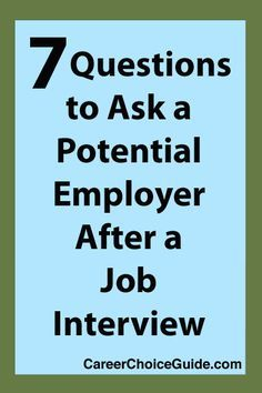 questions to ask job interview