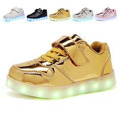 CIOR Kids Boy and Girl's 11 Color Led Sneakers Light Up Flashing Shoes,103,L07,28 -- Check out the image by visiting the link.