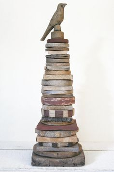 Old Weathered Barn Totem by stephanie dunkin (FarmhouseMud)