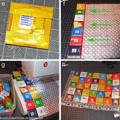 Hello dear ones, my Ritter Sport bag was one of the first projects that I presented to you on my blo Good Tutorials, Sewing Tutorials, Sewing Patterns, Sewing Projects For Kids, Diy Crafts For Kids, Step Sport, Tetra Pack, Recycling, Ritter Sport