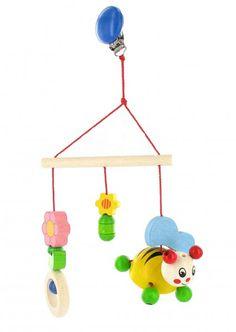 """Minitrapez Hummel """"Pummel"""" von HOBEA-Germany - Buntes Mobile aus Holz für das Kinderzimmer  #Baby #Spielzeug #Mobile #Holzmobile #Babyspielzeug #Kinderzimmer #Kinderwagen #Deko #Holzspielzeug #HOBEA"""