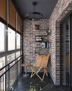 Modern Styles in Balcony: Harmony of Nature - Unique Balcony & Garden Decoration and Easy DIY Ideas Interior Balcony, Apartment Balcony Decorating, Balcony Furniture, Apartment Interior, Interior Design Living Room, Interior And Exterior, Interior Decorating, Small Balcony Decor, Small Balcony Design