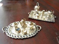 Do you collect dolls? Well you're going to need this sterling silver doll's tea set for your collection!