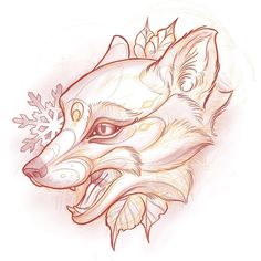 William Volz bei Unkindness Art in Richmond, VA Animal Drawings, Cool Drawings, Drawing Sketches, Tattoo Drawings, Fox Tattoo Design, Fuchs Tattoo, Animal Tattoos, Fox Tattoos, Tree Tattoos