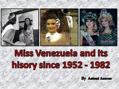 Miss Venezuela and its history since 1952 to 1982