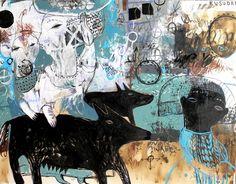 "Saatchi Arte Artista: Rusudan Khizanishvili; Acrílico Pintura 2013 ""Hidden Place"""