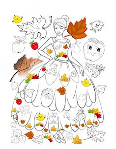 ZIMNÍ FAIRY zbarvení snímků / čipy barevné pohádkové podzim - trpaslíci Universe Easy Fall Crafts, Halloween Crafts For Kids, Fun Crafts For Kids, Arts And Crafts Projects, Art For Kids, Easy Doodle Art, Doodle Art Drawing, Sunflower Crafts, Scarecrow Crafts