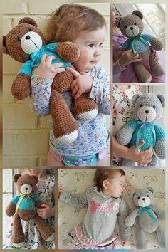 tatyanababytoys by tatyanababytoys Crochet Teddy Bear Pattern, Crochet Animal Patterns, Crochet Animals, Amigurumi Patterns, Doll Patterns, Sewing Patterns, Crochet Doll Tutorial, Crochet Dolls, Crochet Baby