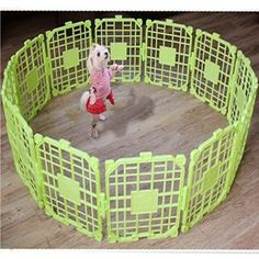 Safe Fences Kennel Cage Pen with 12 Pieces Easy Assembly for Dog Green Color >>> Find out more details by clicking the image : Dog cages