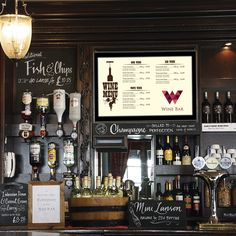 digital menu boards with pictures - Google Search