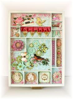 Springtime in Pastels printers tray ~ Angella Peardon