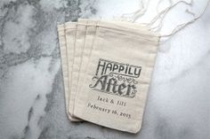 Personalized wedding favor bags muslin 3x5. by ClementineWeddings, $62.50