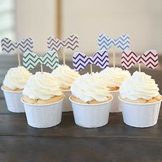 Bow Tie Cupcake Picks/Toppers for Cake Decoration - Set of 22 (Random Color,Wrappers Not Included) – USD $ 7.99
