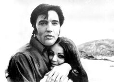 Elvis and Priscilla Presley at the Hanauma Bay, in O'ahu, Hawaii, May, 1969.