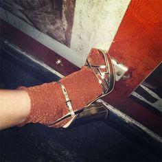 Meia com sandália pra você se inspirar!