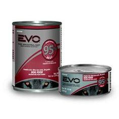 EVO Beef 95% in Gravy Canned Dog Food. Your pet's ancestors were designed by nature to hunt and thrive on a diet rich with the nutrition from animal proteins, not grains. Inspired by nature, EVO's authentic ancestral diet gives your pet the protein he or she needs to promote a lean, conditioned body. Nature designed your pet's diet. EVO perfected it.