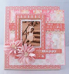 THE STAMPIN PALACE: Happy Layout using Teresa Collins & Xyron