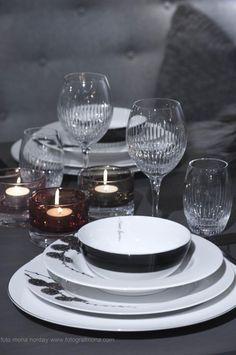 Fifty shades of grey for the perfect table. Alba by Teresa Bergerud. Lerk and Skyline by Halvor Bakke. Design for Magnor Glassverk.