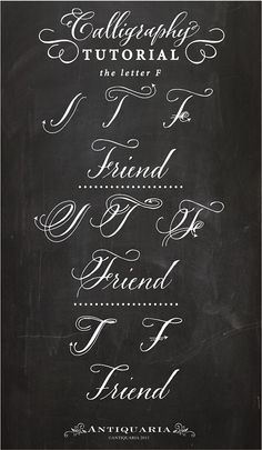 """Calligraphy Tutorial   the Capital Letter """"F"""""""