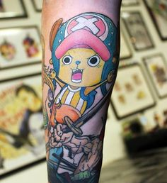 Chopper from One Piece added to ongoing anime sleeve :) #anime #tattoo…