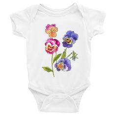 Colorful Pansies Infant Bodysuit