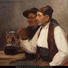 Bebiendo del porrón - José Benlliure y Gil