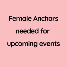 Female Anchors needed for upcoming events Part Time Jobs, Upcoming Events, Anchors, Mumbai, Female, Creative, Bombay Cat, Anchor