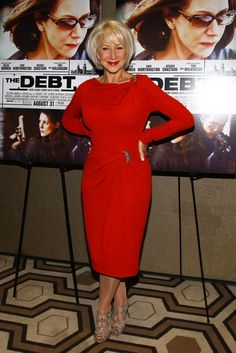 Helen Mirren Gladiator Heels - Helen Mirren Looks - StyleBistro