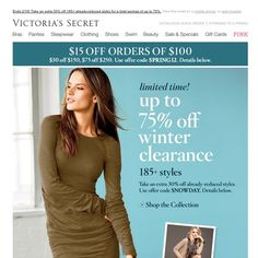 Victoria's Secret - Up to 75% Off Winter Clearance Ends Sunday! 185+ Styles. ...