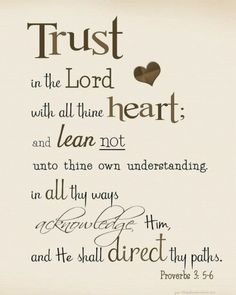 Proverbs 3:5-6 One of my favorite Bible Verses! <3