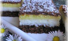 Danulkine lahodné kokosové kocky - Báječné recepty Eastern European Recipes, Sweet Cakes, Graham Crackers, Tiramisu, Food And Drink, Cooking Recipes, Treats, Cookies, 3