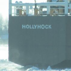 The Hollyhock in East China heading down the St. Clair River to Algonac to help break some freighers free of the ice (Jan. 2015 Michigan)