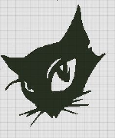 "Photo from album ""Жаккард"" on Yandex. Cross Stitch Boards, Cross Stitch Bookmarks, Cross Stitch Patterns, Fillet Crochet, Blackwork Embroidery, Cross Stitch Animals, Cat Crafts, Knitting Charts, Cat Pattern"