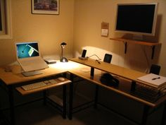 Office Set Up for Dual Position: Table for Sitting Work