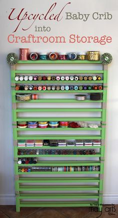 Must Have Craft Tips - Creative Upcycled Craft Room Ideas . Must Have Craft Tips - Creative Upcycled Craft Room Ideas upcycled room ideas - Upcycled Home Decor Craft Room Storage, Sewing Room Organization, Paper Storage, Ribbon Storage, Craft Room Organizing, Craft Storage Ideas For Small Spaces, Baby Room Storage, Ribbon Organization, Small Craft Rooms