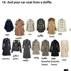 a541934ddcba A visual Coat glossary (for women)ViaMore Visual Glossaries  Backpacks    Bags   Hats   Belt knots   Coats   Collars   Darts   Dress Silhouettes    Hangers ...