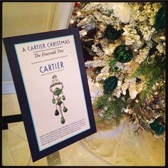 Visited @hillwoodmuseum today to say goodbye to the #Cartier exhibit and was delighted by the Cartier-themed Christmas decorations!!
