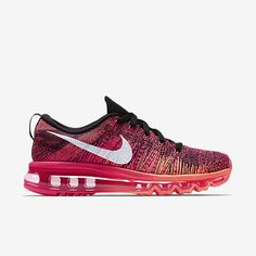 Nike Flyknit Air Max Zapatillas De Running Mujer Negro/Rosa Metalizado/Lava Cálida/Blanco 620659-006