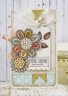 Sending Sunshine Card by Melissa Phillips for Papertrey Ink (January 2014)